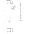 Geberit  Xeno2 500.503.00.1 šedá matná 170 cm